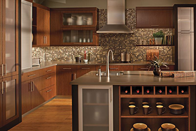 Custom kitchen cabinets by Dura Supreme, available at Lumberjack's Kitchens and Baths, serving Cleveland, Akron, Canton, OH