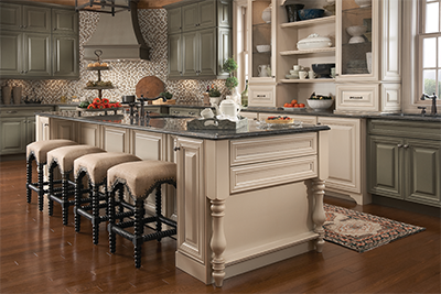 Incroyable KraftMaid Kitchen Cabinets With Island Kitchen