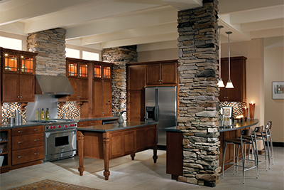 Merillat new kitchen cabinets, Tolani style available at Lumberjack's Kitchens and Baths, Cleveland, Akron, Canton