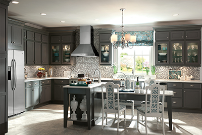 Beautiful mocha kitchen cabinet trends, available at Lumberjack's Kitchens and Baths in Akron OH.
