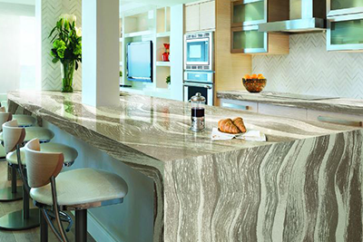 Cambria quartz countertops, available at Lumberjack's Kitchens and Baths.
