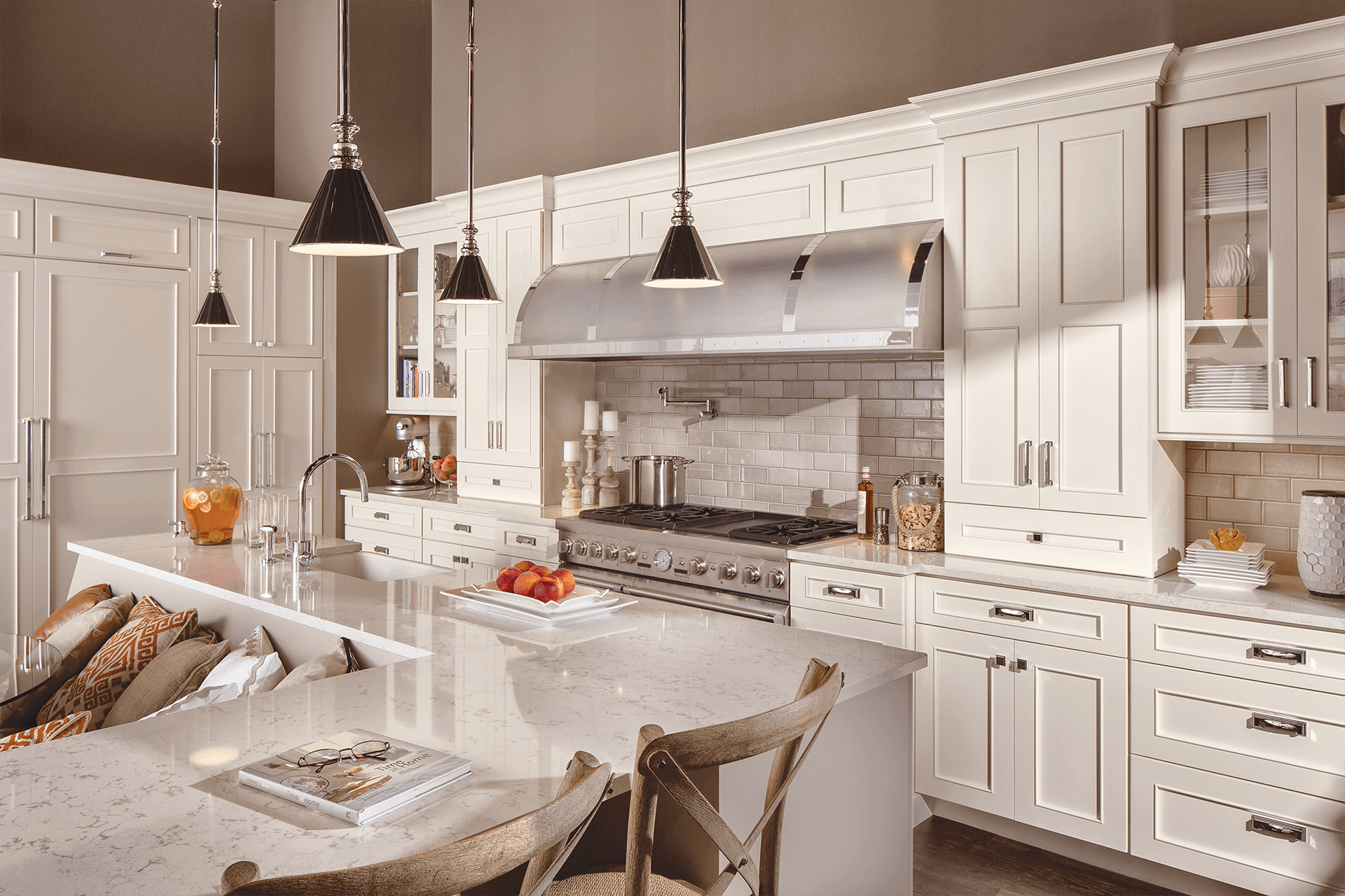 New white kitchen cabinets available from Lumberjack's Kitchen and Baths, serving Cleveland, Akron, Canton and all of northeast Ohio.
