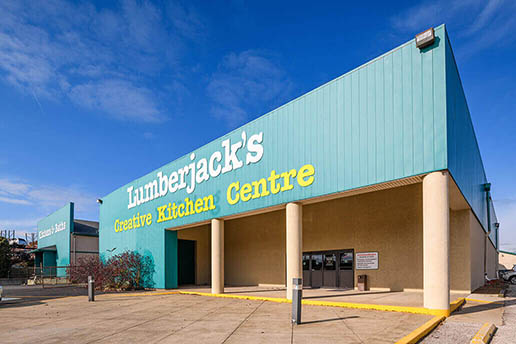 Kitchen and bath showroom, Lumberjack's Kitchens & Baths.