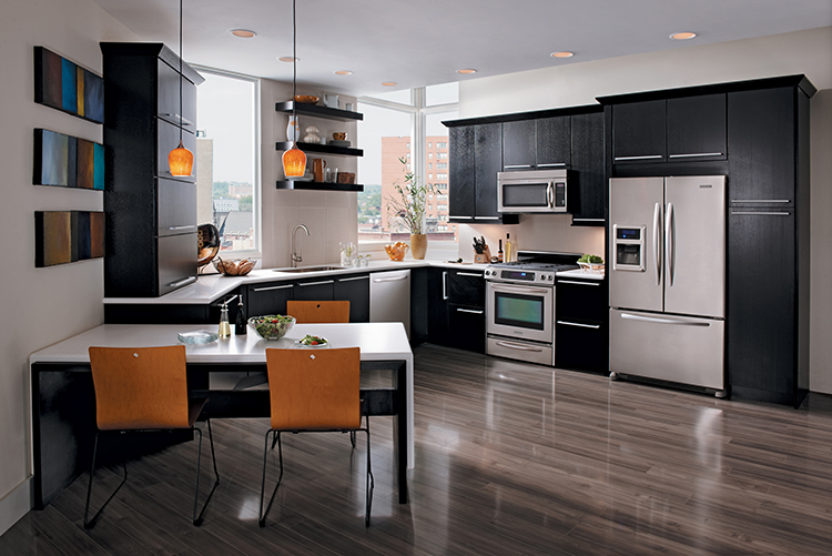 Black New Kitchen Cabinets, Featuring Merillat Cabinetry, Available At  Lumberjacks Kitchens And Baths,