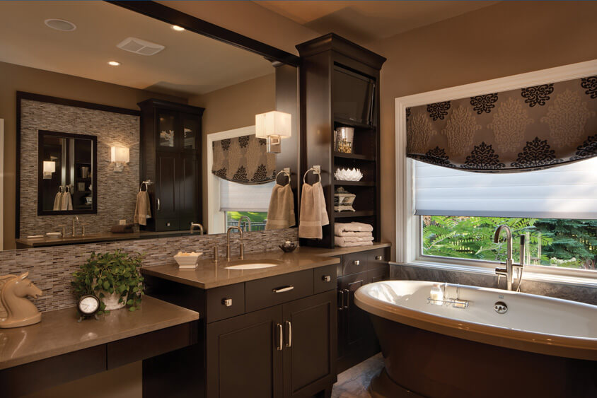Master bathroom vanities, available at Lumberjack's Kitchens and Baths, serving the Akron, Canton and Cleveland OH area.