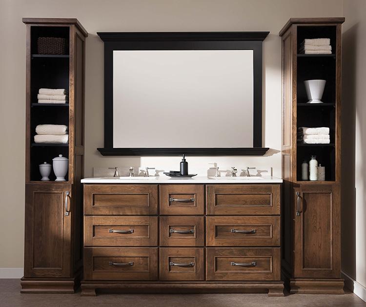 Merveilleux Solid Wood, Beautiful Bathroom Vanities Available At Lumberjacku0027s Kitchens  In Baths In Akron OH